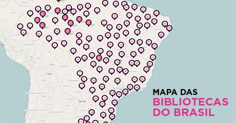 Ministério da Cultura lança mapa com bibliotecas públicas de todo país