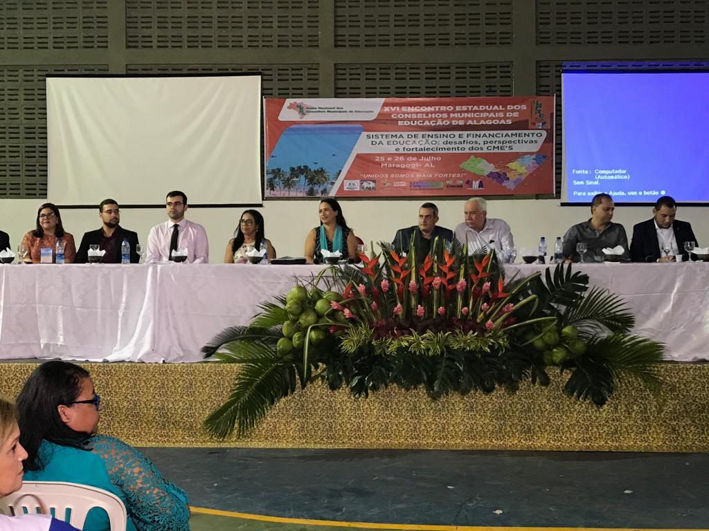 Encontro Estadual reúne conselheiros municipais de Educação em Maragogi